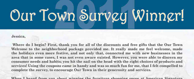 New Mover Survey Contest Winner 2011