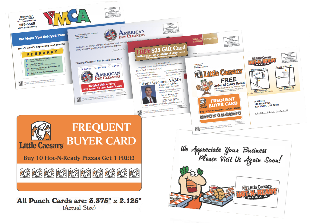 Intuitive Marketing Postcards Direct Mail Our Town America