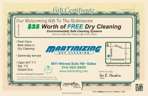 Dry Cleaners Marinizing Certificate Our Town America