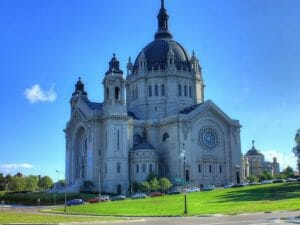 Minnesota Large Cathedral Building New Movers Our Town America Minneapolis Mn