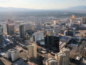 View Of Las Vegas' Strip From The Helicopter