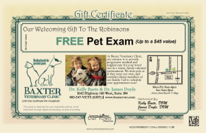 Baxter Animal Clinic Veterinarian Our Town America New Mover Marketing
