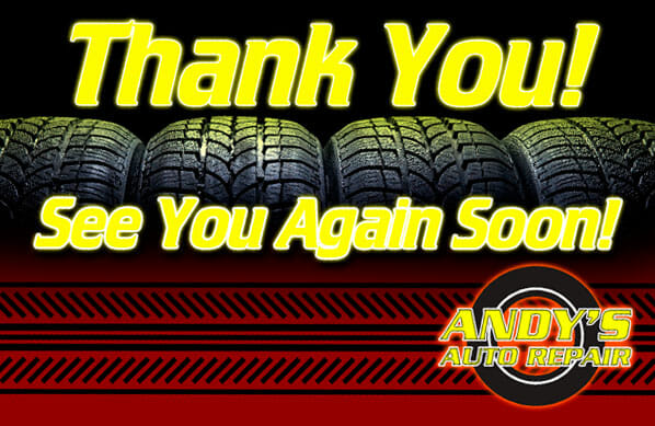 A thank you post card example for the automotive industry