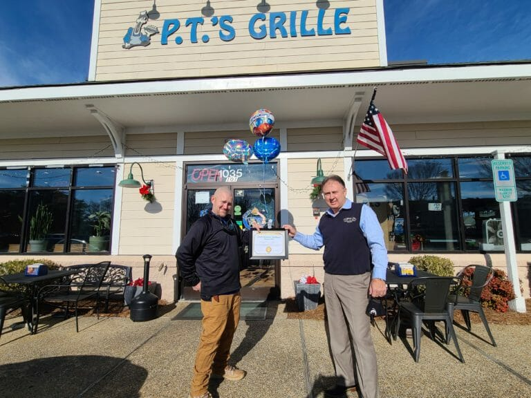 P.T.'s Grille Winner of Wilmington, NC Small Business Resilience Award by Our Town America