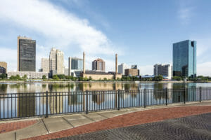 Toledo Ohio City Skyline