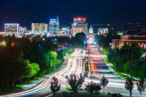 Boise, Idaho Cityscape New Mover Direct Mail Marketing Get New Customers